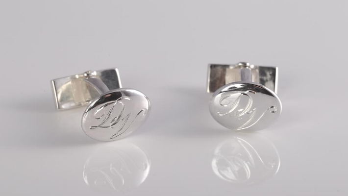 Cufflinks  - Sophisticated, personalised cufflinks make a striking addition to your formal wedding wear.Shop the collection