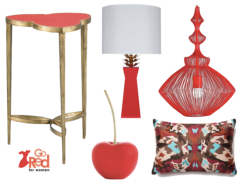 Check out my mood board and  see my other favorite  'Go Red' Home Decor.