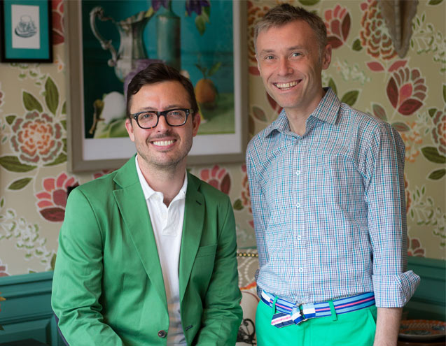 Jason Oliver Nixon (left) and John Loecke (right), Co-founders of  Madcap Cottage