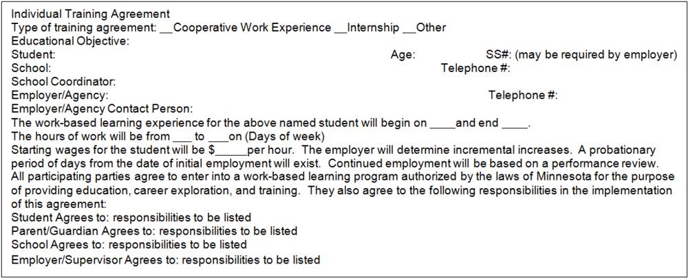 Work Based Learning Nebraska Workplace Experiences