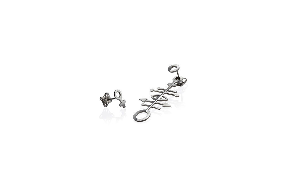Earrings Platinum Plated Sterling Silver
