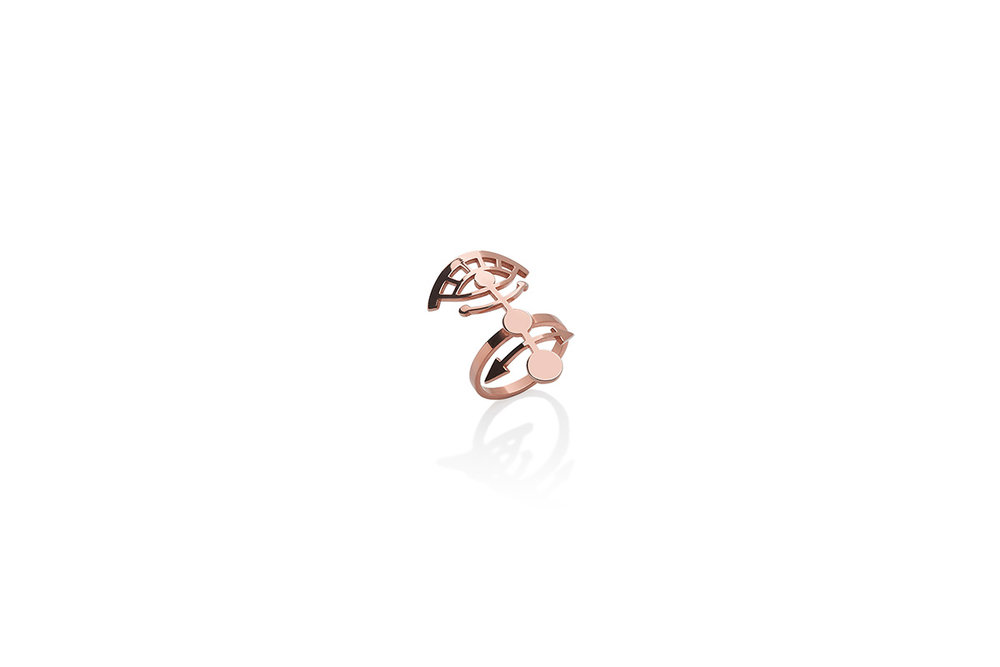 Ring Gold Plated Sterling Silver