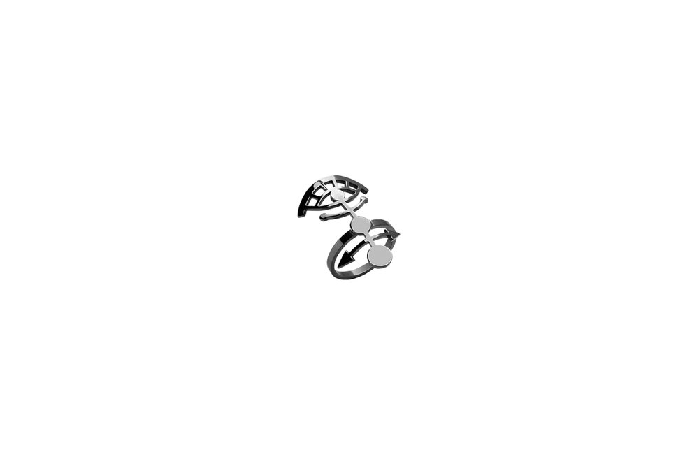 Ring Platinum Plated Sterling Silver