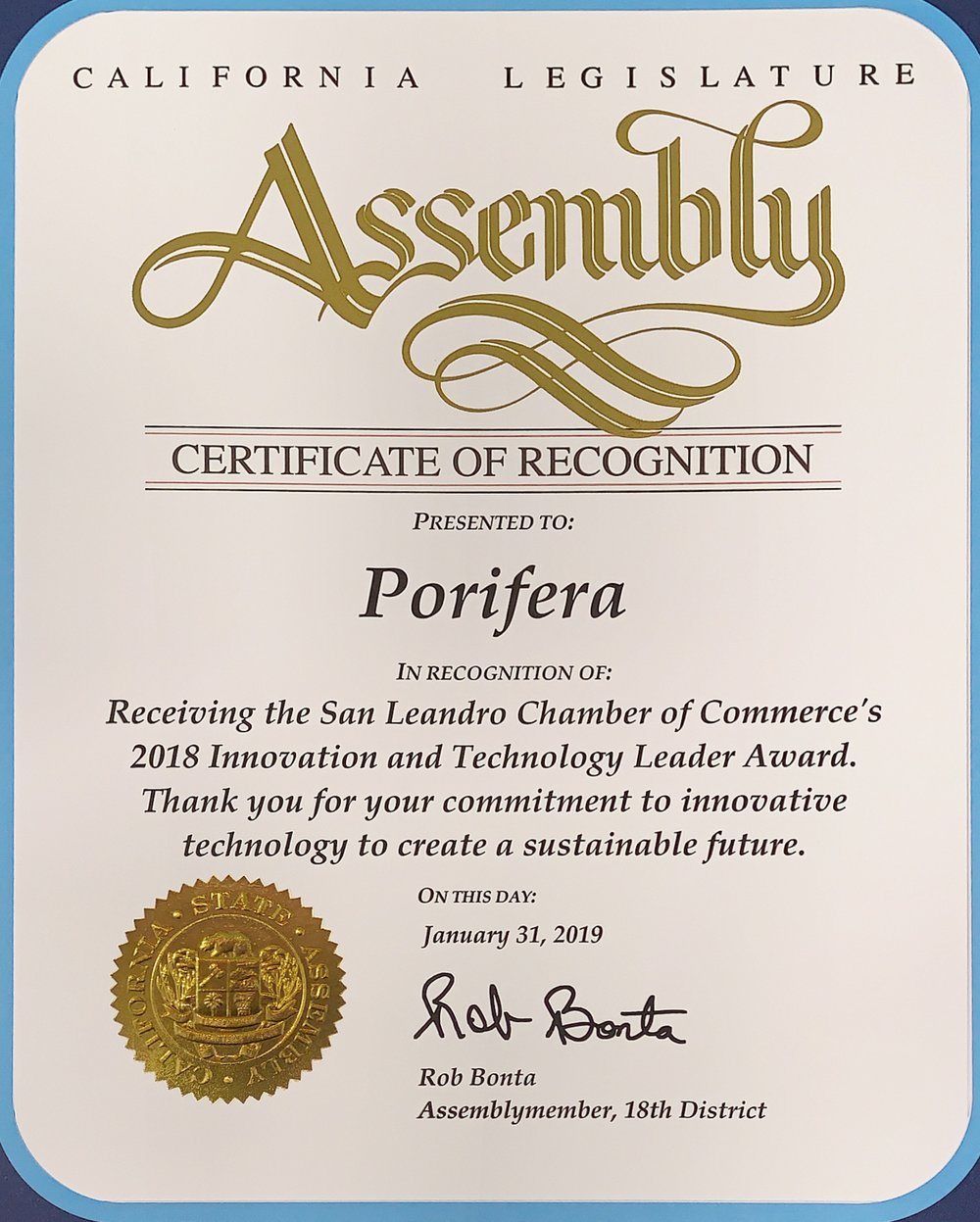 CA State Assembly -