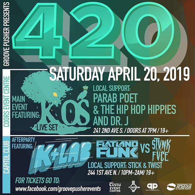Somebody say hey, the hippies are coming out to play🎧🎼🎻🥁🌼 #420 @coorseventcentre • Who's comin to vibe with us!!!