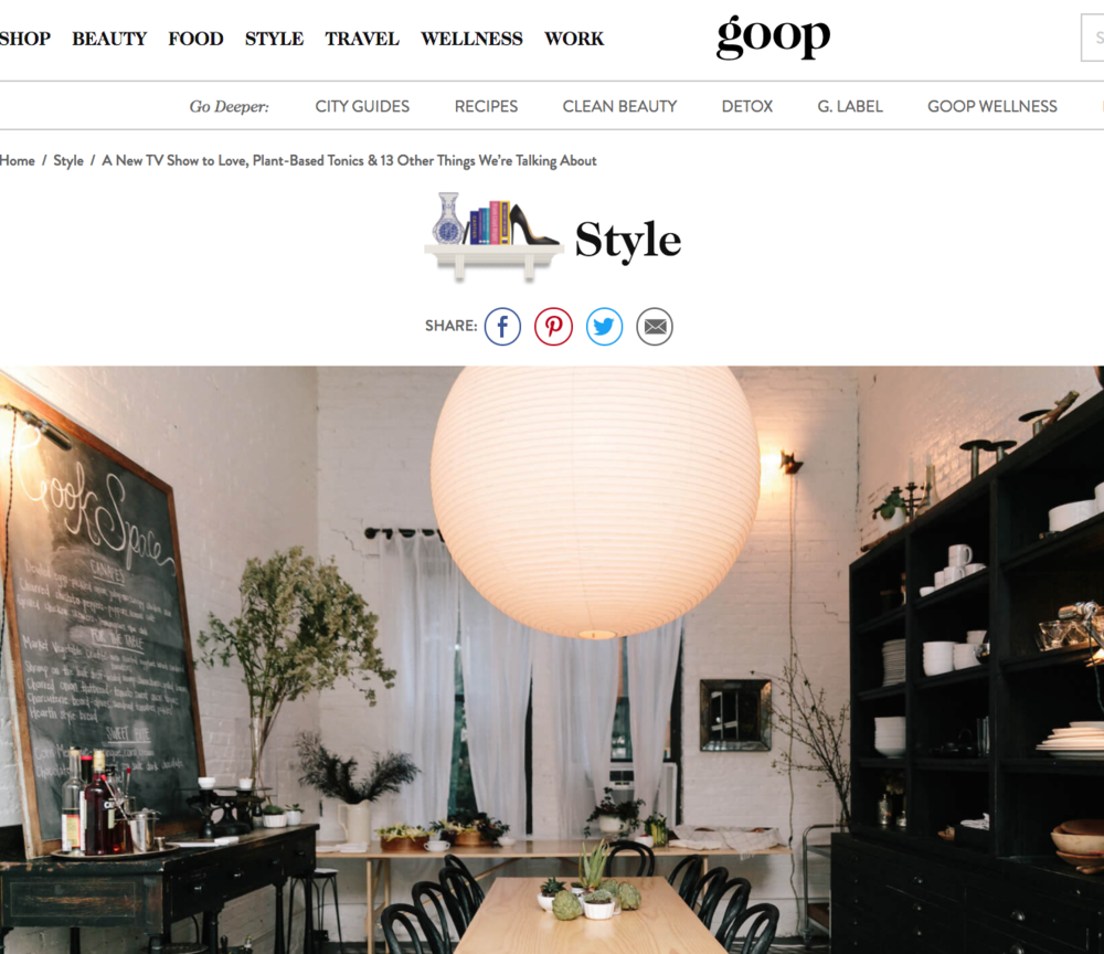 GOOP NEWSLETTER - December 2017