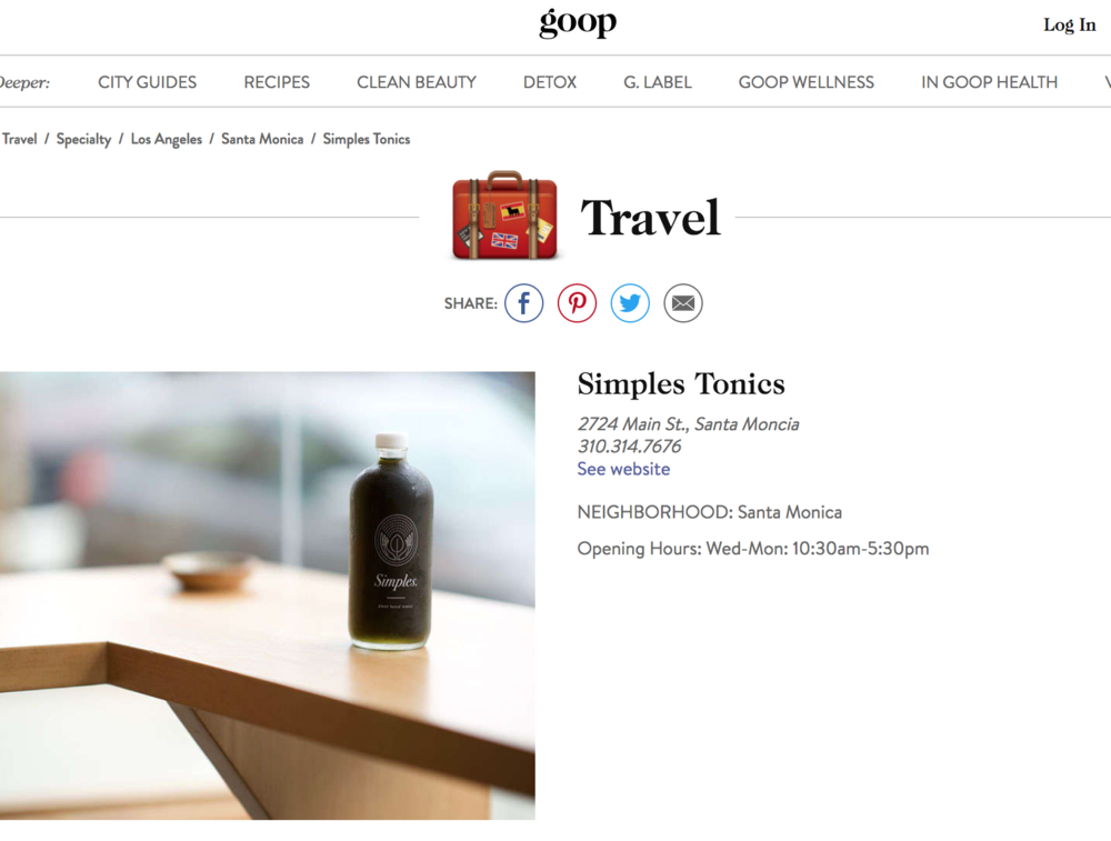 GOOP TRAVEL GUIDE - December 2017