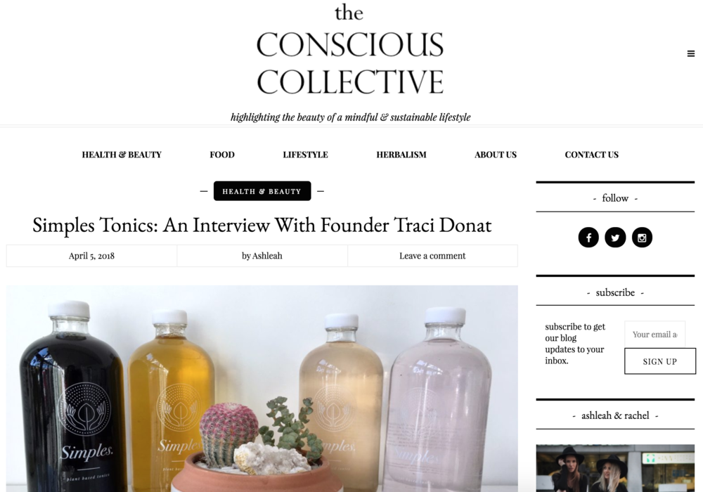 THE CONSCIOUS COLLECTIVE - April 2018