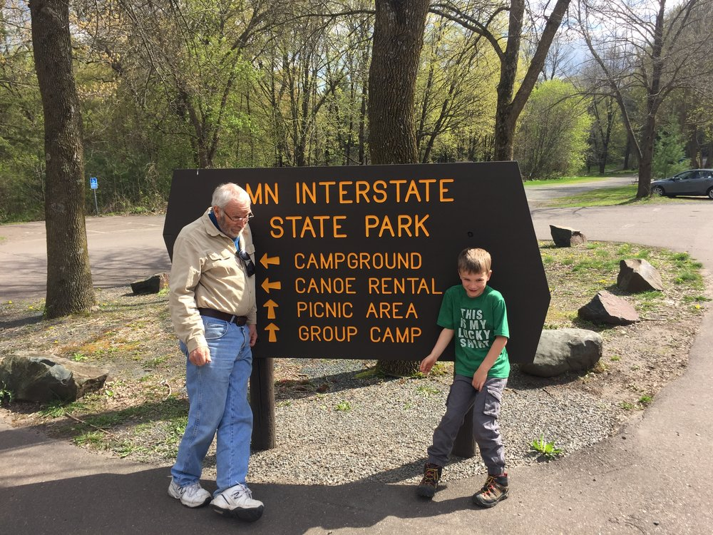 Camping with grampa