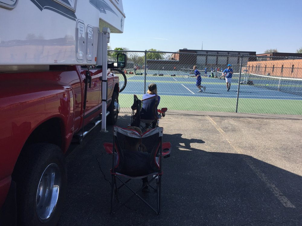 Watching a hockey star play tennis