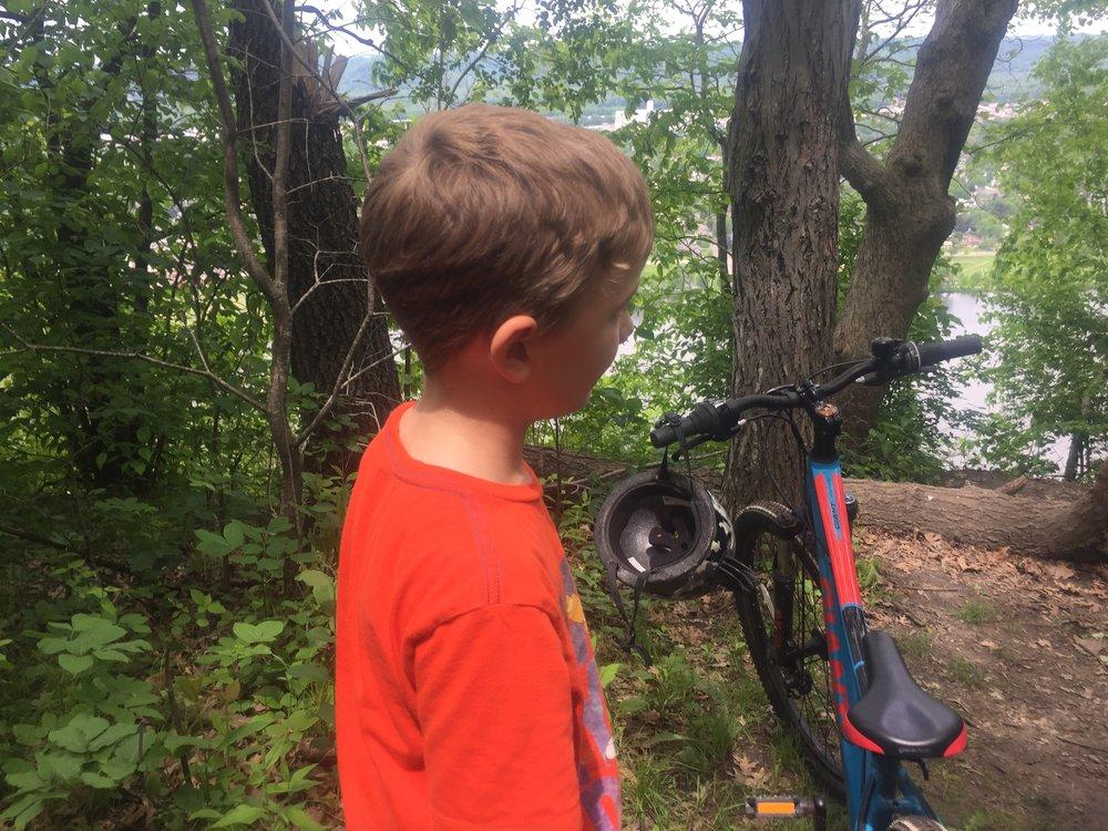 Mountain Biking on Sugar Loaf, Winona, MN