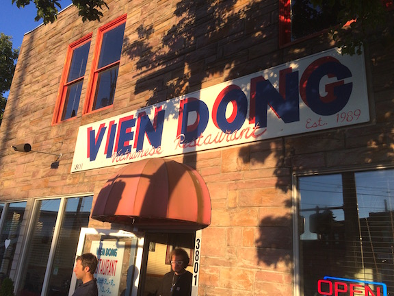 Vien Dong Vietnamese Restaurant is a community favorite, but just one of many places to eat good food on this block.