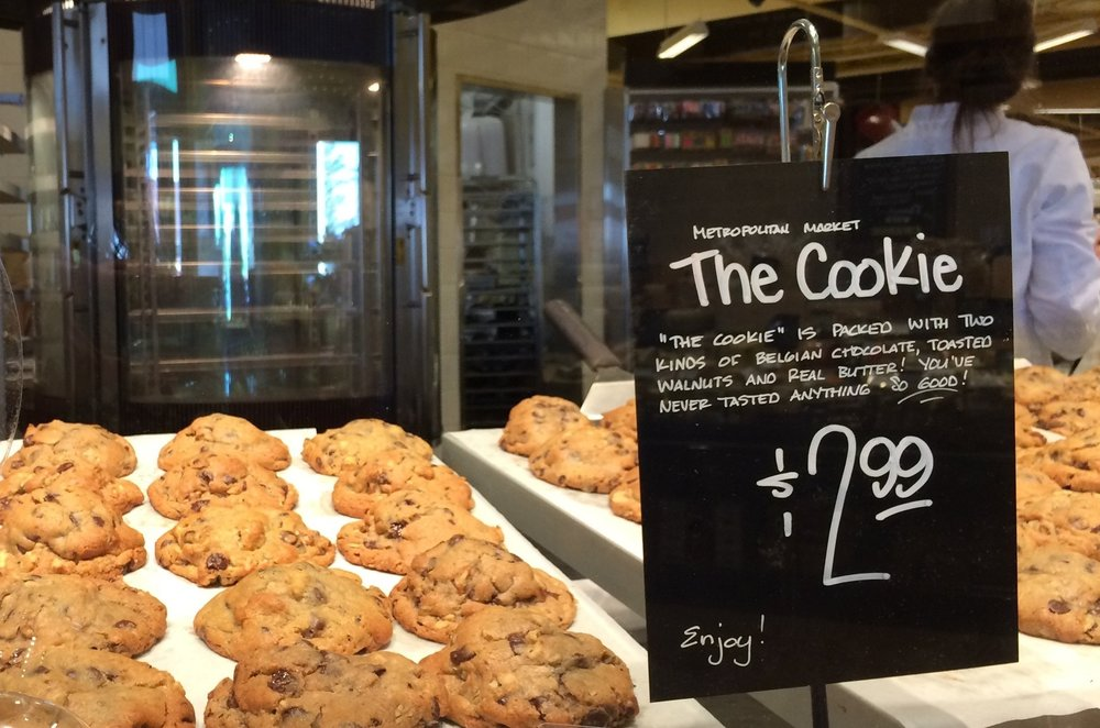 You can't miss The Cookie counter in Proctor's Metropolitan Market (it happens to be near the entrance).