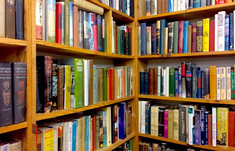 Hardback literature in the fiction section at Culpepper Books.