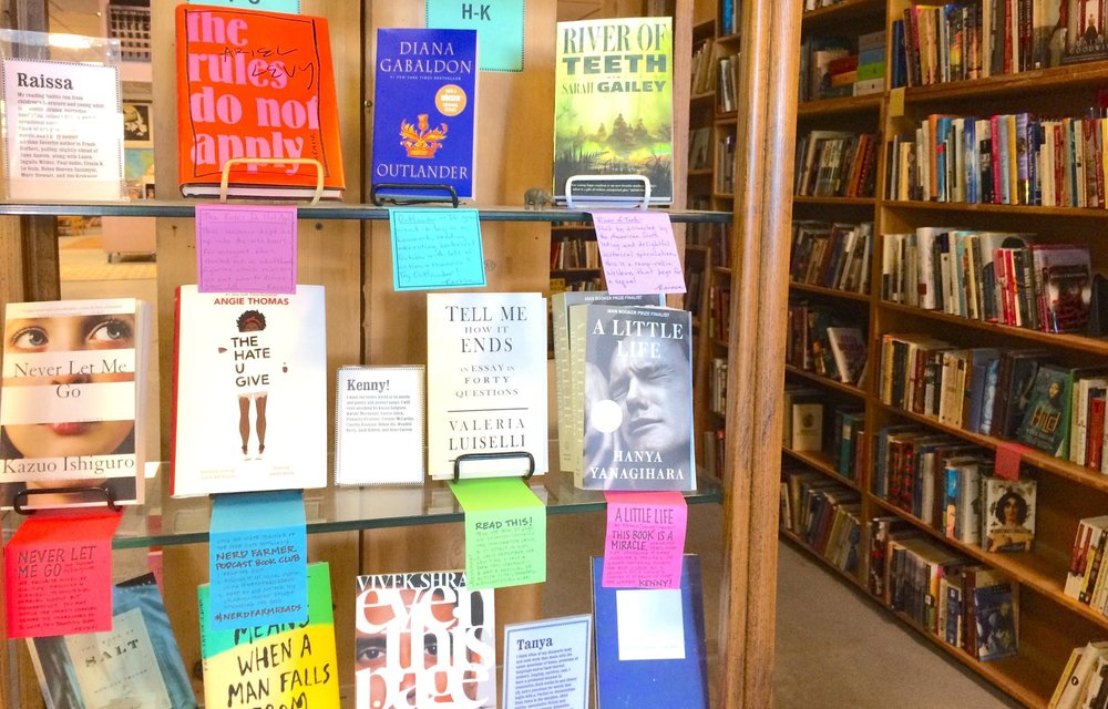 Staff Picks shelf at King's Books.