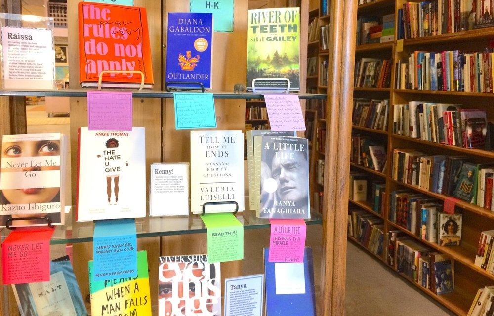 Staff Picks shelf at King's Books.