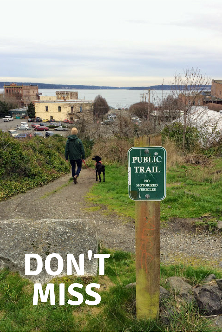 Public Trails - If you walk around in Port Townsend long enough, especially a bit deeper into the residential area, you'll start to see these around. When we stayed near Fort Worden, we used these paths to guide us up over the hill and back down into the business district. They lend a wild, exploratory feeling to a walk about town.