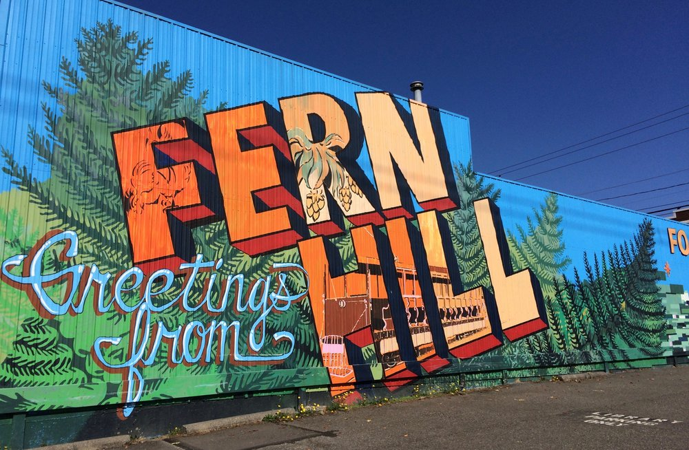 Fern Hill Mural at S. 84th Street & Park - lead artist Kelda Martensen with team Dionne Bonner, and Brad Pugh, completed in 2010