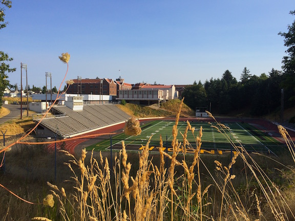 The Stadium Bowl, built in 1940 with Stadium High in the background.