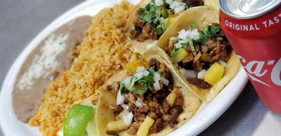 Tacos at El Zocalo Tortas & Bakery just 1/2 a mile away!   Image from El Zocalo  .