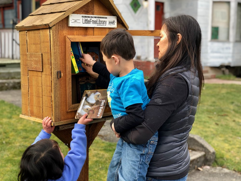 Help us stock the Cushman Branch Little Free Library with all kinds of good books! Read about our book drive below.