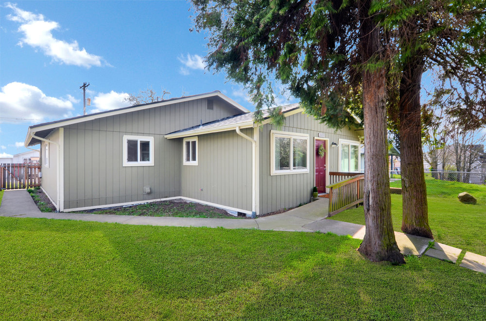 A fenced yard with mature cedars and paved paths welcome you to this single floor home with its open living space. Completely updated in 2013 with the whole roof replaced within the past 5 years.