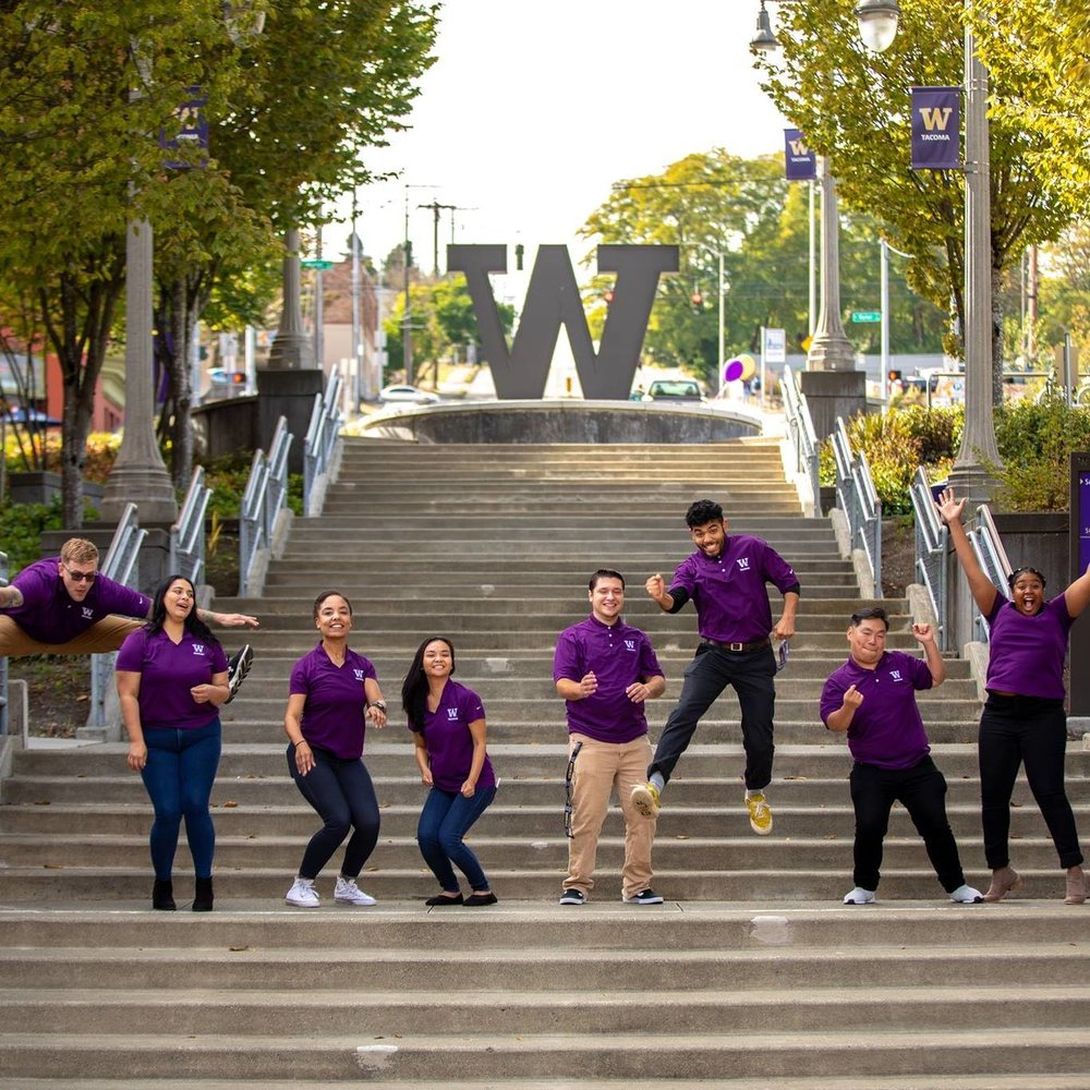 Image from    University of Washington Tacoma   .  The steps at the heart of the UWT campus, less than a mile from home.