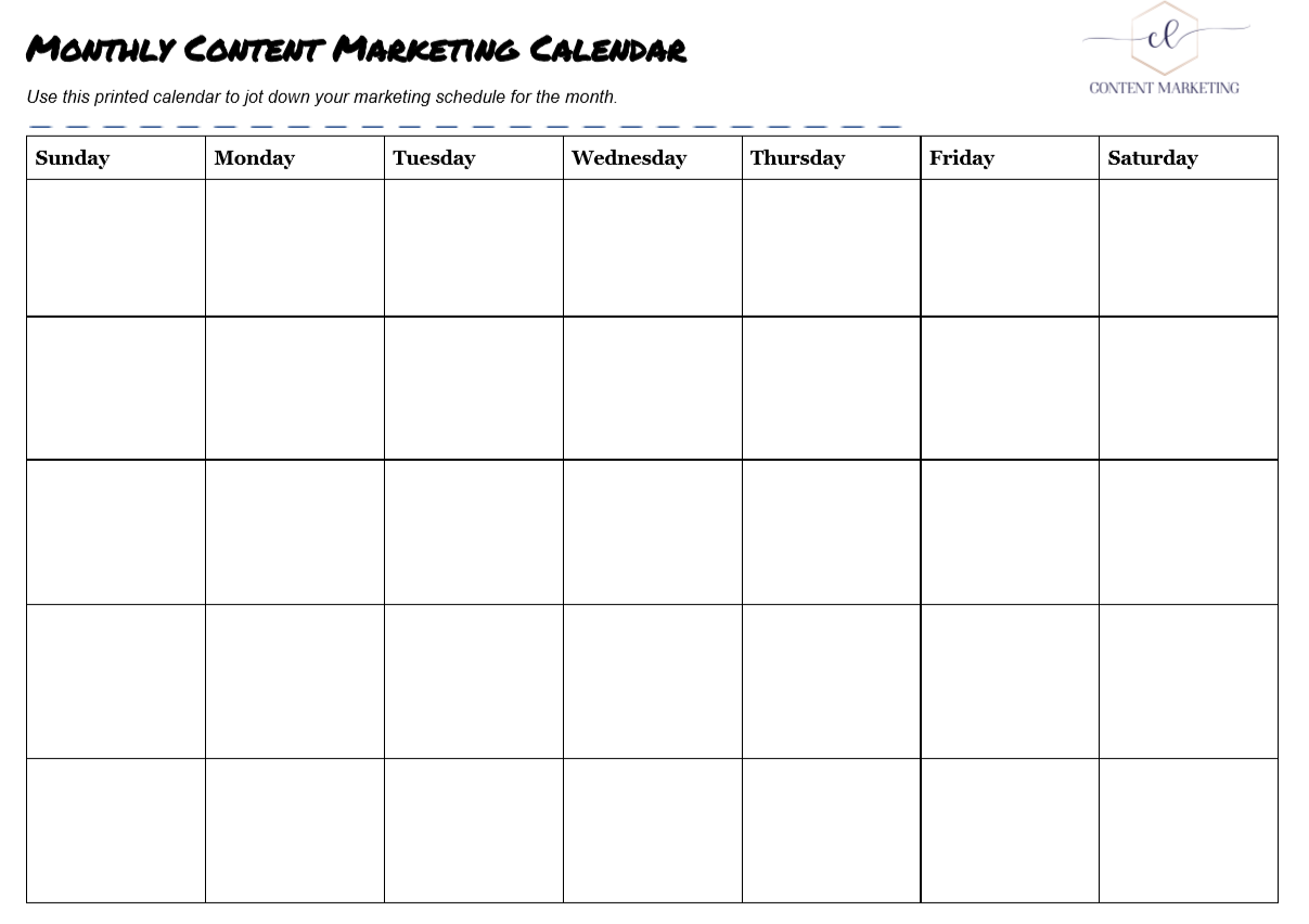 Use A Content Calendar To Crush Your Content Strategy