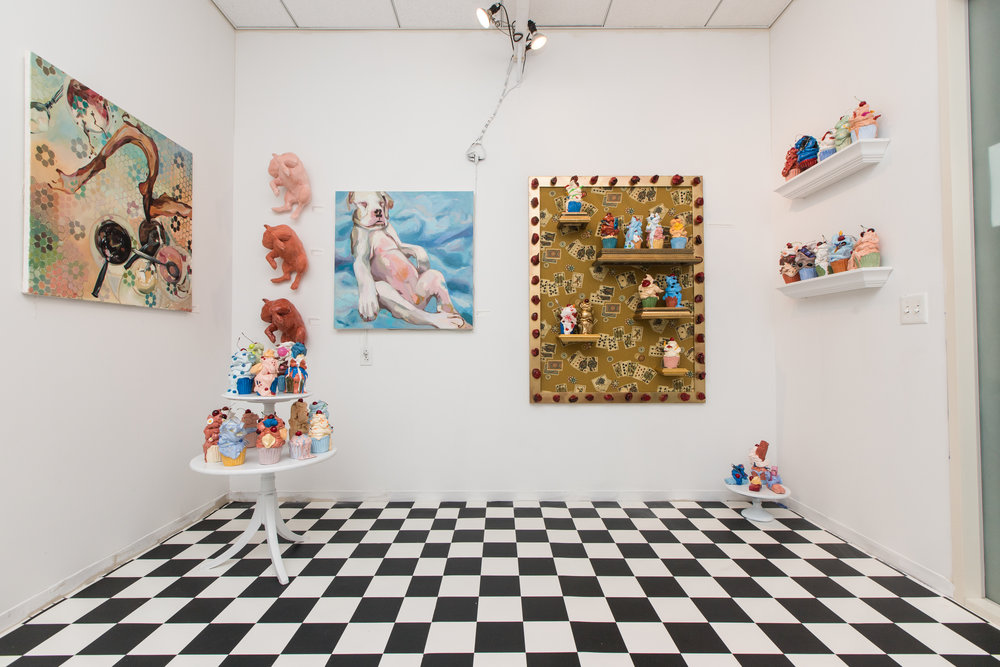 """""""…The idea was to create the bones of a classic gallery, then flesh it out with retro atmosphere to complement the nostalgic components"""" - Dan Mims for Daily Nutmeg"""
