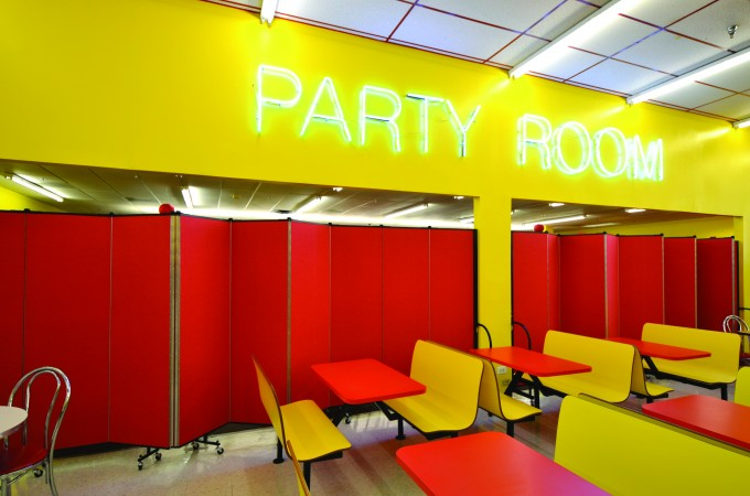 Screenflex creates a party room