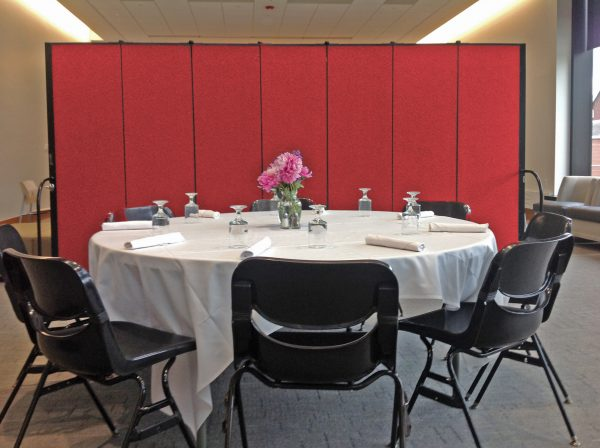 Screenflex makes a more intimate dining experience
