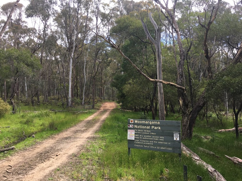 The northern entrance to Woomargama National Park