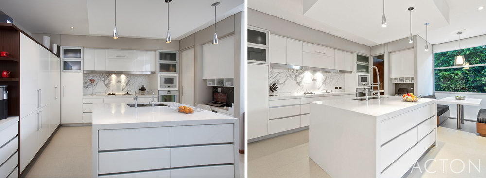 An ageless kitchen. All white with high quality fixtures and fittings means it is made to last the test of time and has.