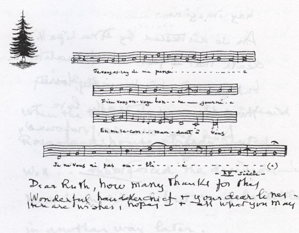 Song for Ruth from Boulanger. I asked several musicians to interpret the music.