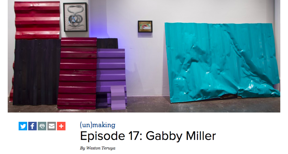 Weston Teruya welcomes artists, arts administrators, and cultural workers of color to get real about their lives, practices, and careers. Each episode is an in-depth look into how art gets made, but more importantly how these folks are seeing to the system of art's (UN)making .  EPISODE 17: Gabby Miller