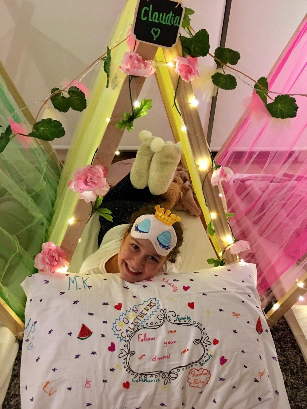kids slumber party pillowcase art extra