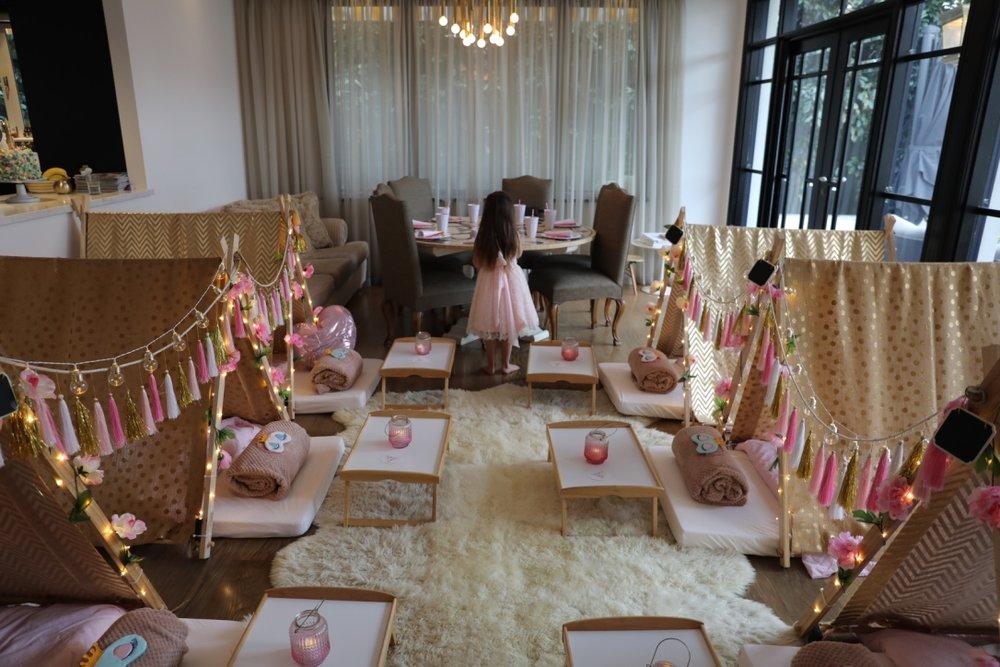 kids slumber party hire melbourne tribal princess