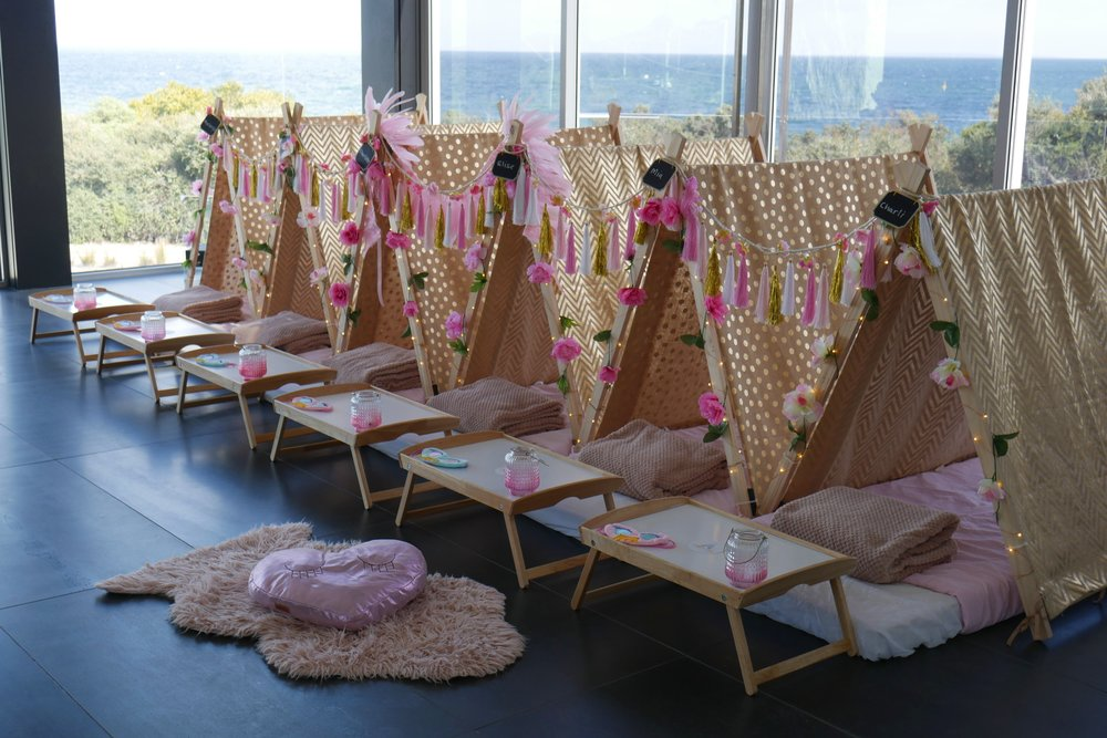 tribal princess slumber party hire pic