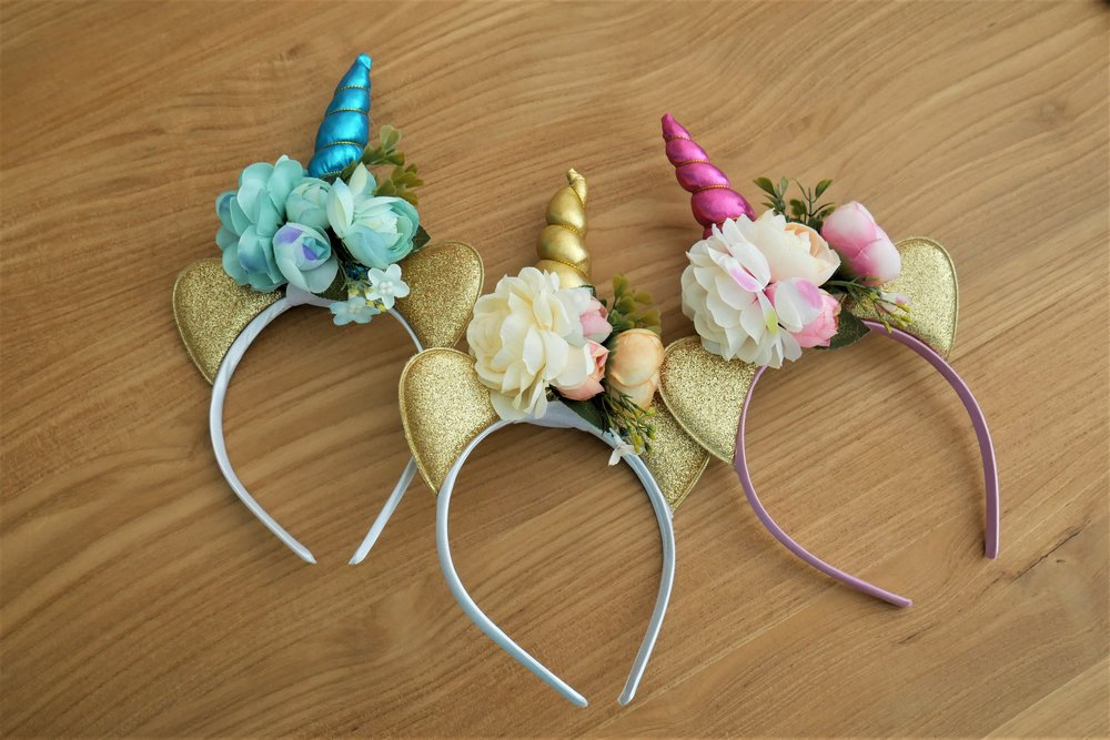 unicorn head band slumber party