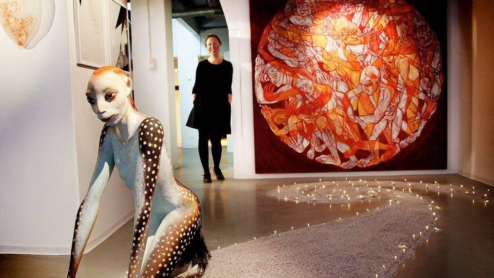 Push shown with sculpture by Gitte Dæhlin