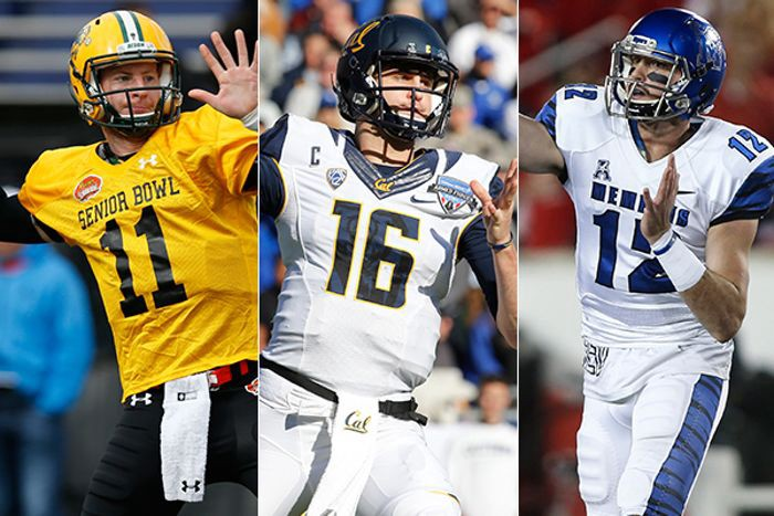 We feel pretty confident that Jared Goff and Carson Wentz will go 1–2 on Thursday night. But which one will have a better pro career? And where will Paxton Lynch wind up? (Photo from dallasnews.com)