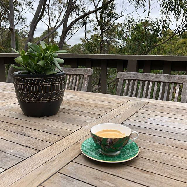#deckliving #almostsummertime #morningcoffee Still loving the cup @amybaa xx