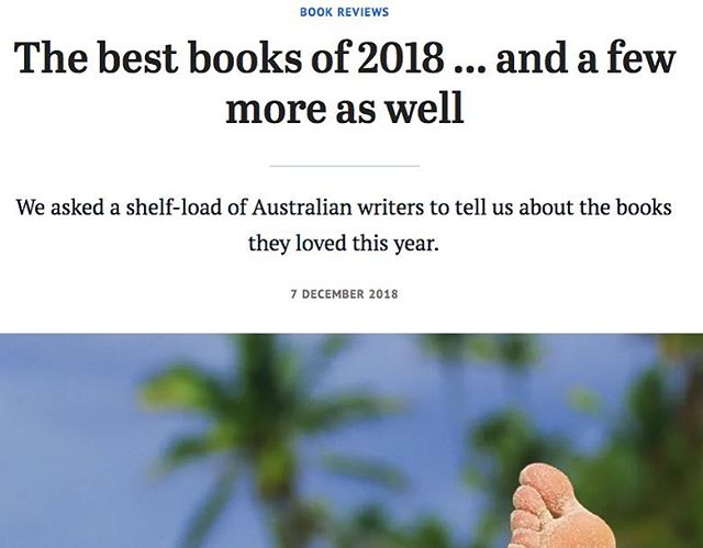 Very lovely that Small Wrongs makes this list 😊❤️ #bestbooksof2018  @sydneymorningherald @theagephoto #bestbooksoftheyear
