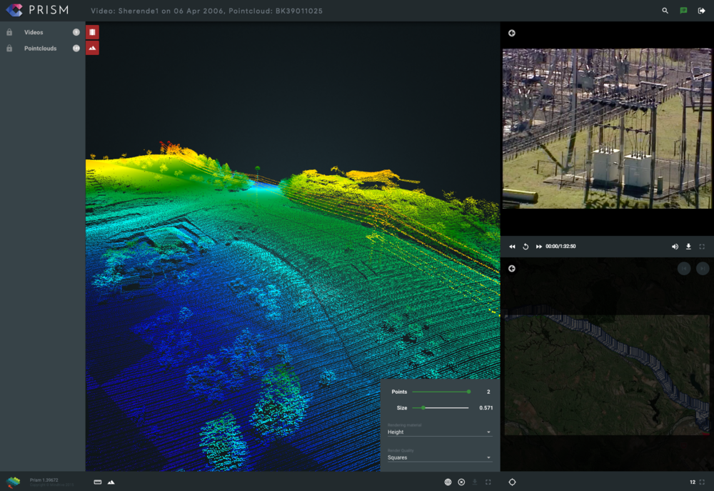 PRISM LiDAR and Aerial Video