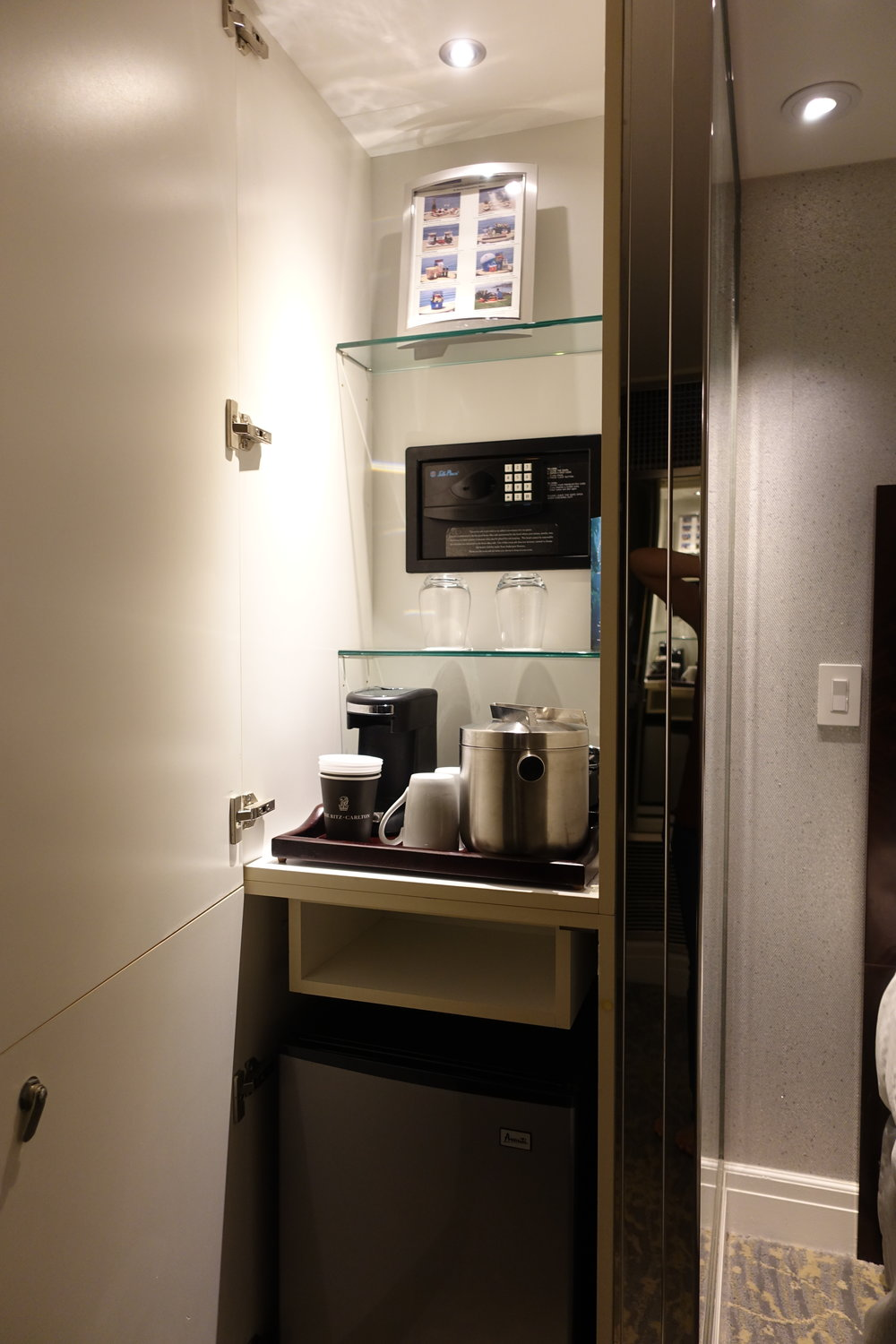 coffee and minifridge