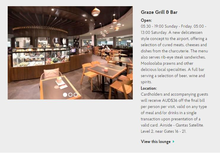 Brisbane Graze Grill and bar (image via priority pass.com)