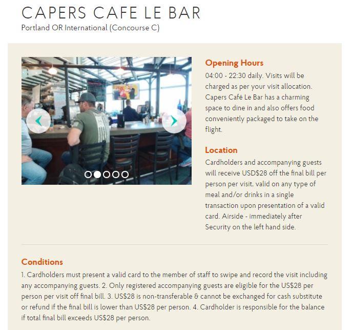 capers cafe le bar details