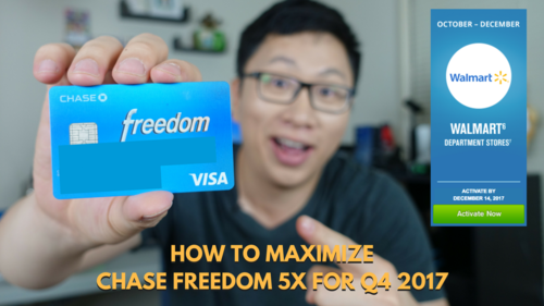 Chase Freedom Calendar December 2020 Department Stores How to Maximize the Chase Freedom 5x Bonus for Q4 2017: Walmart