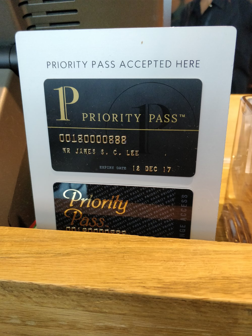 priority pass sign