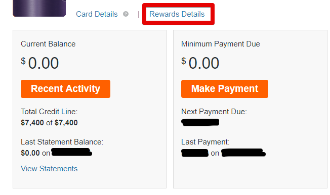reward details